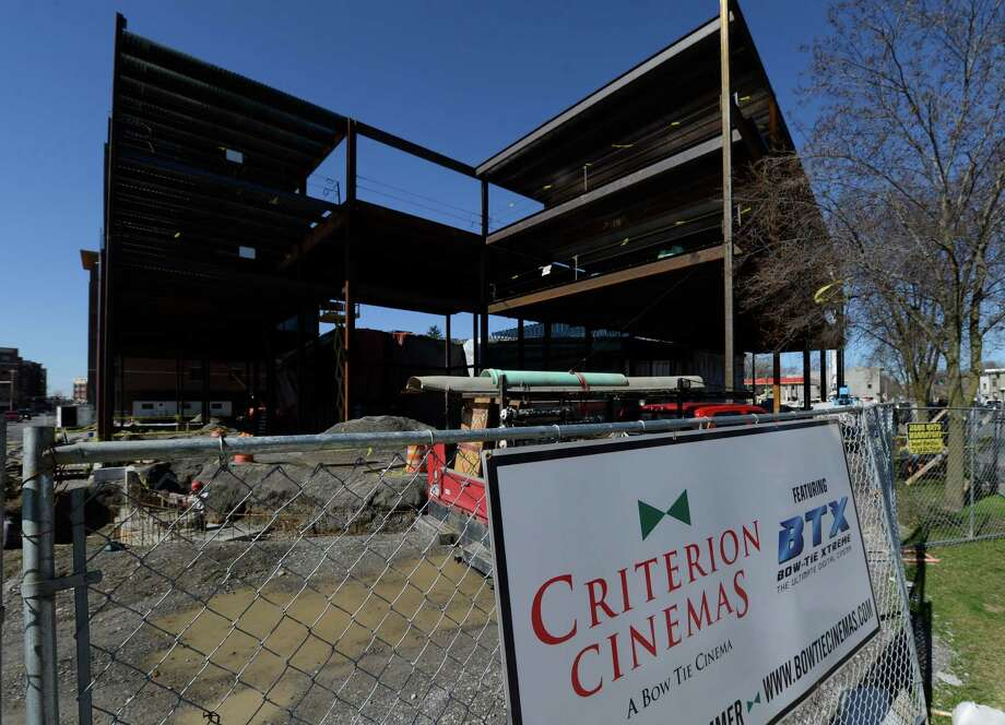 The Criterion Cinemas owned by Bow Tie as construction is at full speed Wednesday April 17, 2013, in Saratoga Springs, N.Y.  A summer opening is anticipated.  (Skip Dickstein/Times Union) Photo: SKIP DICKSTEIN