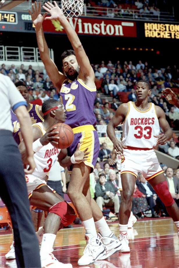 1991 Western Conference playoffs: First roundThe Finals-bound Lakers swept through Hakeem and Co. in three games. Photo: Chronicle File Photo