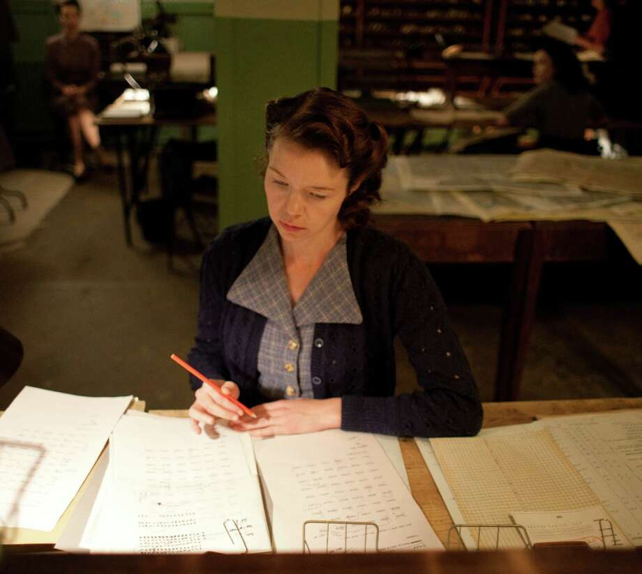 "Anna Maxwell Martin as Susan in PBS minisereis ""The Bletchley Circle"" Credit: Courtesy of ÂLaurence Cendrowicz/World Productions FROM WORLD PRODUCTIONS FOR ITV1  THE BLETCHLEY CIRCLE on Monday 10th September, 2012 on ITV1  Episode 1  Four ordinary women with an extraordinary flair for code-breaking and razor-sharp intelligence skills are the focus of ITVé•s new murder mystery drama.  Twice BAFTA award-winner, Anna Maxwell Martin (South Riding, Bleak House) stars as Susan, Rachael Stirling (Women in Love, Boy Meets Girl) is Millie, RADA graduate Sophie Rundle (Episodes, Garrowé•s Law) plays Lucy and Julie Graham (Lapland, Survivors, William & Mary) is Jean.  Based on the lives of four fictional women whose brilliant work at top security HQ Bletchley Park during World War II helped break codes used by the German military.  Set in 1952, Susan, Millie, Lucy and Jean have returned to their normal lives, modestly setting aside the part they played in producing crucial intelligence, which helped the Allies to victory and shortened the war.  Until now that isé‰and the unresolved murders of Jane Hart and Patricia Oakes.   Pictured:  Anna Maxwell Martin as Susan   COPYRIGHT: World Productions  For further information please contact: Patrick Smith patrick.smith@itv.com 0207 157 3044   This photograph is (C) World Productions and can only be reproduced for editorial purposes directly in connection with the programme or event mentioned above, or ITV plc. Once made available by ITV plc Picture Desk, this photograph can be reproduced once only up until the transmission [TX] date and no reproduction fee will be charged. Any subsequent usage may incur a fee. This photograph must not be manipulated [excluding basic cropping] in a manner which alters the visual appearance of the person photographed deemed detrimental or inappropriate by ITV plc Picture Desk.  This photograph must not be syndicated to any other company, publication or website, or permanently archived, without th Photo: ÂLaurence Cendrowicz / ONLINE_YES"