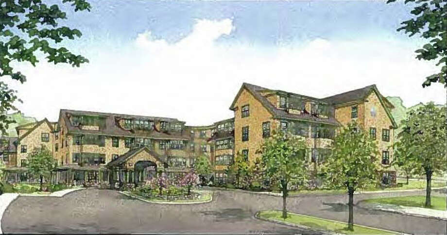 A sketch of Atria Senior Living's proposed senior-residential complex at the town-owned Baron's South property. Photo: Contributed Photo / Westport News contributed