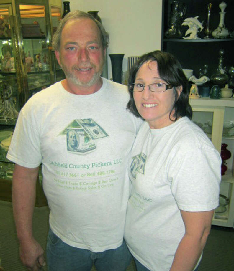 Merton and Dawn Larmore of Litchfield County Pickers found each other, and created a business, through their love for their craft. April Photo: Norm Cummings