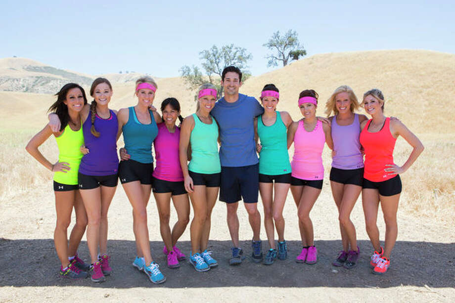 """Ready for Love,"" Episode 2: ""Meet Ben and Ernesto."" Pictured: (l-r) Kari Krakowski, Lynsee Gonzales, Angela Zatopek, Renae Virata, Katie Coyle, Ben Patton, Beth Richman, Rachel Briese, Allie Wagner, Tarryn Franco Photo: NBC, Dale Berman/NBC / 2012 NBCUniversal Media, LLC"