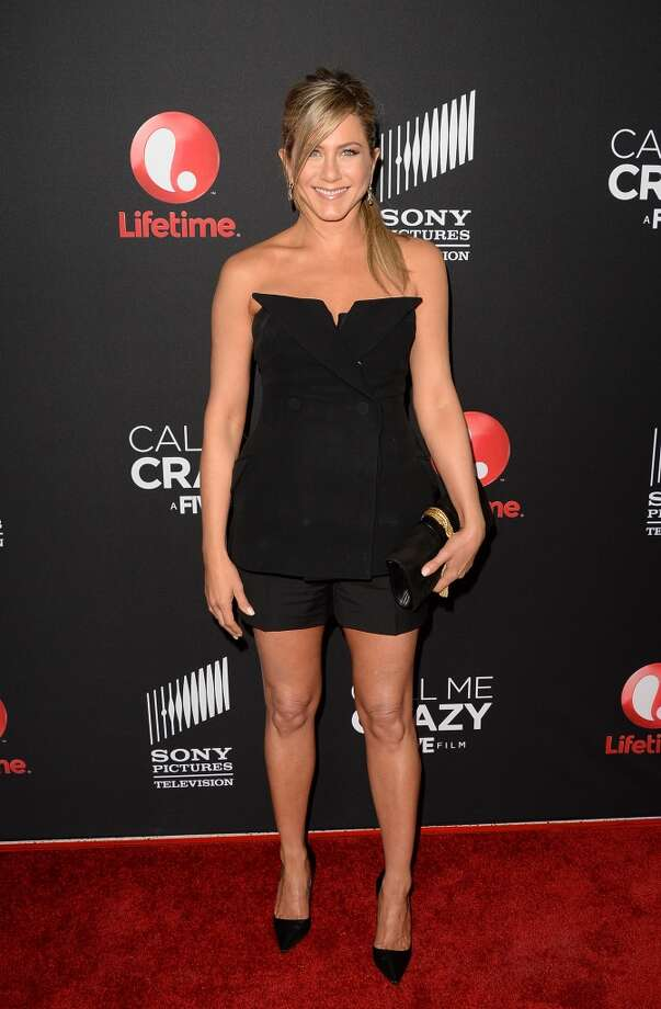 WEST HOLLYWOOD, CA - APRIL 16:  Actress Jennifer Aniston attends the premiere of Lifetime's 'Call Me Crazy: A Five Film' at Pacific Design Center on April 16, 2013 in West Hollywood, California.  (Photo by Jason Merritt/Getty Images)