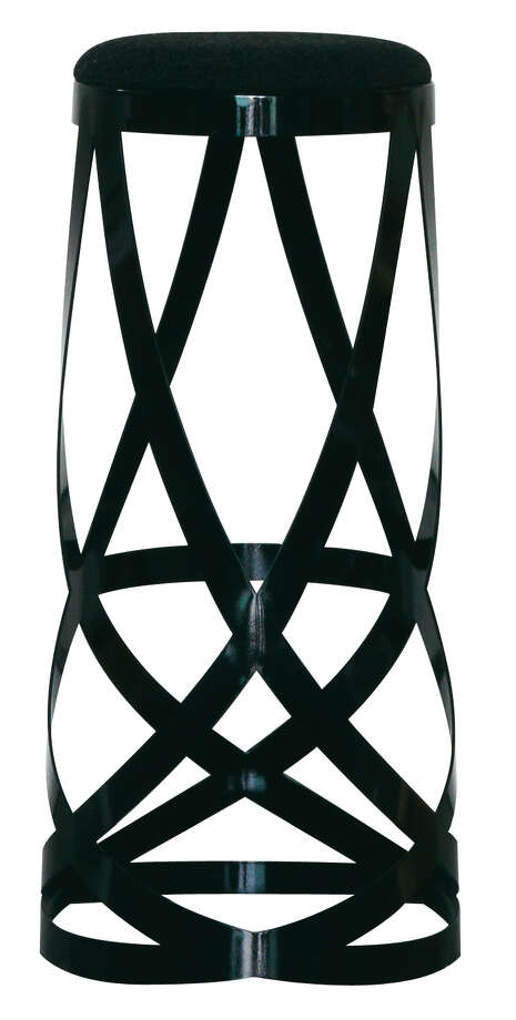 How to sit gracefully: Plant yourself over the swooping curves of the laser-cut metal Ribbon stool, designed by Nendo for Cappellini; $871 at Internum.