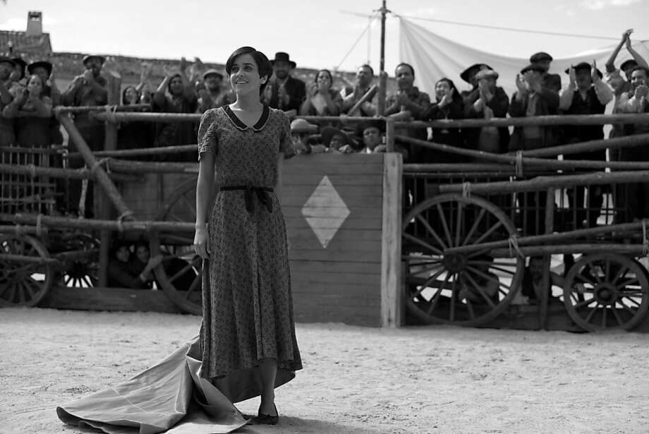 """Macarena García plays Carmen, the Snow White figure in """"Blancanieves"""" who grows up to be a bullfighter. Photo: Cohen Media Group"""