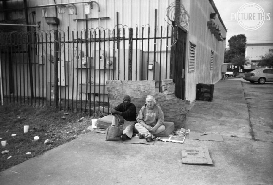 Friendship, a photo taken by Ernest McCarty, as part of an photo exhibit taken by homeless photographers. Photo: Ernest McCarty