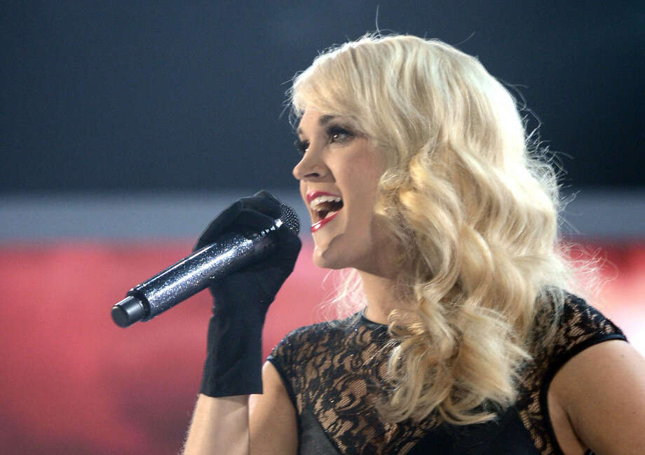 Carrie Underwood performs at  the recent Academy of Country Music Awards  in Las Vegas. Her Blown Away prop-heavy tour continues to sell out arenas. Photo: Getty Images For ACM