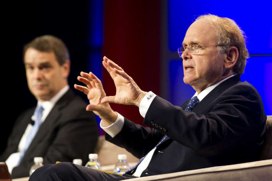 Daniel Yergin, vice chairman IHS, speaks during the 17th International Conference & Exhibition on Liquefied Natural Gas at the George R. Brown Convention Center Wednesday, April 17, 2013, in Houston. Photo: Brett Coomer, Houston Chronicle