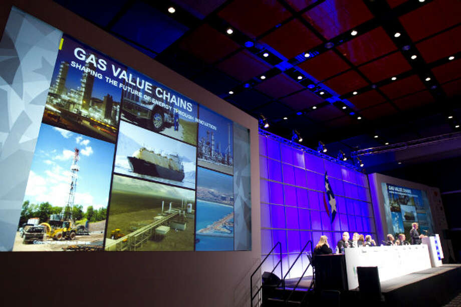 Maarten Wetselaar, of Shell, speaks during a panel discussion on the role of LNG in the growing global gas demand during the 17th International Conference & Exhibition on Liquefied Natural Gas at the George R. Brown Convention Center Wednesday, April 17, 2013, in Houston. Photo: Brett Coomer, Houston Chronicle