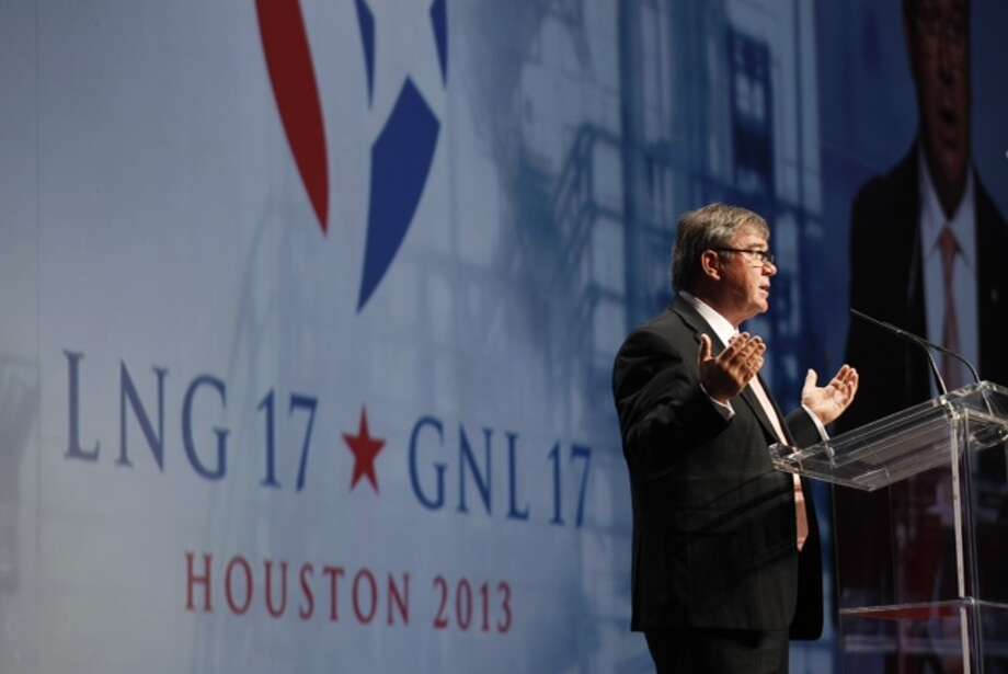Gary Gray, minister of resources and energy for Australia, speaks during 17th International Conference & Exhibition on Liquefied Natural Gas at the George R. Brown Convention Center Tuesday, April 16, 2013, in Houston. Photo: Brett Coomer, Houston Chronicle
