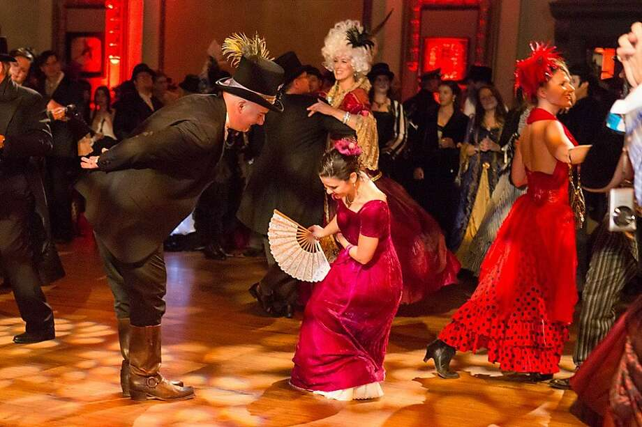 The Edwardian Ball, held in January, takes its inspiration from Edward Gorey, rather than the Edwardian period, with attendees dressing up as everything from burlesque beauties to Gashlycrumb Tinies. Photo: Edwardian Ball