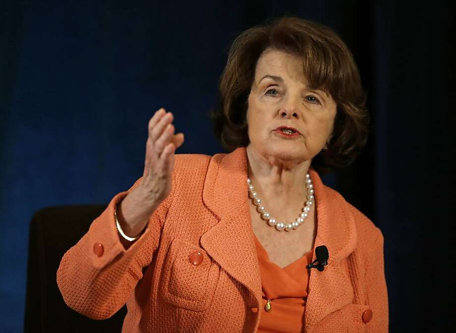 FILE - In this April 3, 2013 file photo, Sen. Dianne Feinstein, D-Calif. speaks in San Francisco. A tentative deal has been reached to resolve a dispute between agriculture workers and growers that was standing in the way of a sweeping immigration overhaul bill, Feinstein said Tuesday. Feinstein, who's taken the lead on negotiating a resolution, didn't provide details, and said that growers had yet to sign off on the agreement. The farm workers union has been at odds with the agriculture industry over worker wages and how many visas should be offered in a new program to bring agriculture workers to the U.S.  (AP Photo/Eric Risberg, File) Photo: Eric Risberg, Associated Press