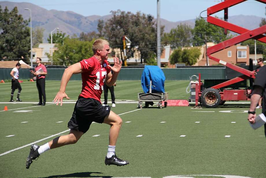 Nate Montana said his trip to the 49ers' facility was his first - at least the first he could remember. Photo: 49ers.com, 49er.com