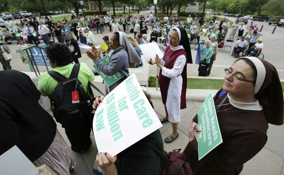 "Nuns from San Antonio and around  Texas march to the Capitol to voice their support for Medicaid expansion. The argument against the expansion amounts to ""Goverment is bad."" Photo: Bob Owen, San Antonio Express-News"