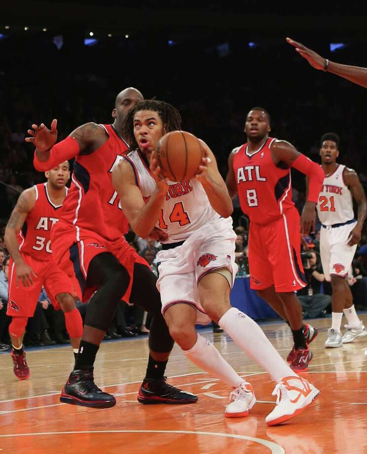 NEW YORK, NY - APRIL 17:  Chris Copeland #14 of the New York Knicks scores two in the fourth and ended the game with a team high of 33 against the Atlanta Hawks at Madison Square Garden on April 17, 2013 in New York City. The Knicks defeated the Hawks 98-92. NOTE TO USER: User expressly acknowledges and agrees that, by downloading and/or using this photograph, user is consenting to the terms and conditions of the Getty Images License Agreement.  (Photo by Bruce Bennett/Getty Images) Photo: Bruce Bennett