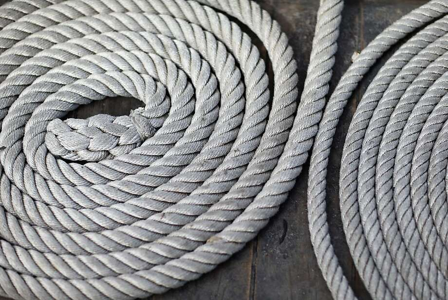 MIAMI, FL - APRIL 17:  Coils of rope lie on the deck of El Galeón, a replica of a 16th century galleon, during Florida's commemoration of the 500th anniversary of Spanish explorer Juan Ponce de Leon's arrival on the shores of Florida on April 17, 2013 in Miami, Florida. The boat will remain in Miami until April 28, after which it continues North along Florida's east coast and stops along the way in Fort Lauderdale, Cape Canaveral,  and St. Augustine.  (Photo by Joe Raedle/Getty Images) Photo: Joe Raedle, Getty Images