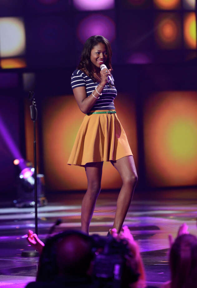 AMERICAN IDOL: Amber Holcomb makes it to the final 10 on AMERICAN IDOL airing Thursday, March 7 (8:00-9:30 PM ET/PT) on FOX. CR: Michael Becker / FOX. Copyright: FOX.