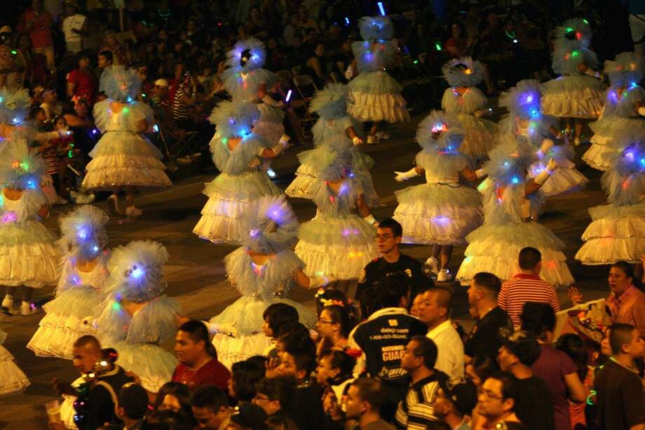 The Flambeau Parade attracts the largest single crowd of any Fiesta event usually hovering around 400,000 people.