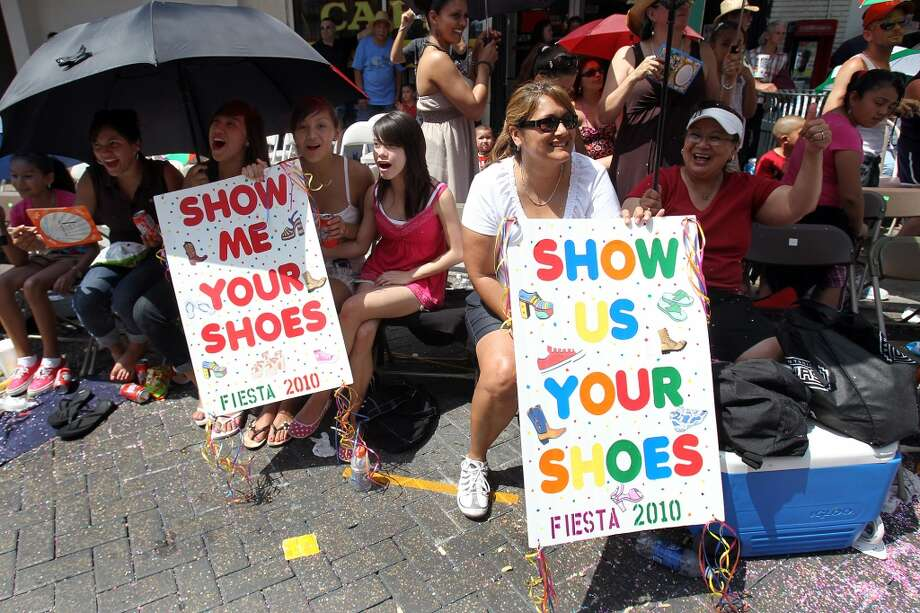 "Show Us Your Shoes!: The origin of the tradition of yelling ""Show us your shoes!"" to the queens and duchesses perched high on the floats of both parades is fuzzy. But it's real, and the queens abide."