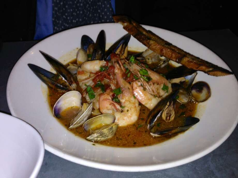 Cacciucco Livornese ($25) with rock cod petrale sole, clams, mussels and shrimp