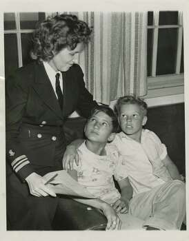 April 17, 1947: A nurse at the Navy hospital at Hitchcock 
