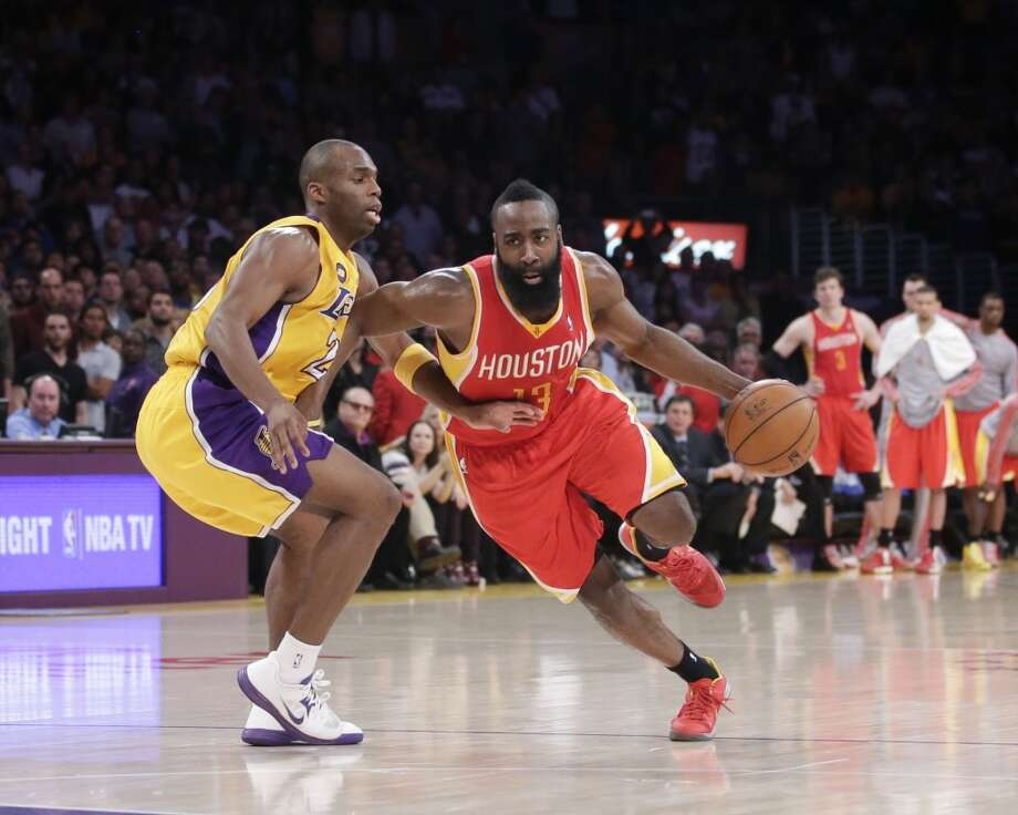 2012-13 regular season finaleDespite 30 points from James Harden, the Rockets fell to the Lakers in overtime on the final night of the season. The loss dropped the Rockets to the No. 8 seed and sent L.A. to No. 7. Photo: Jae C. Hong, Associated Press