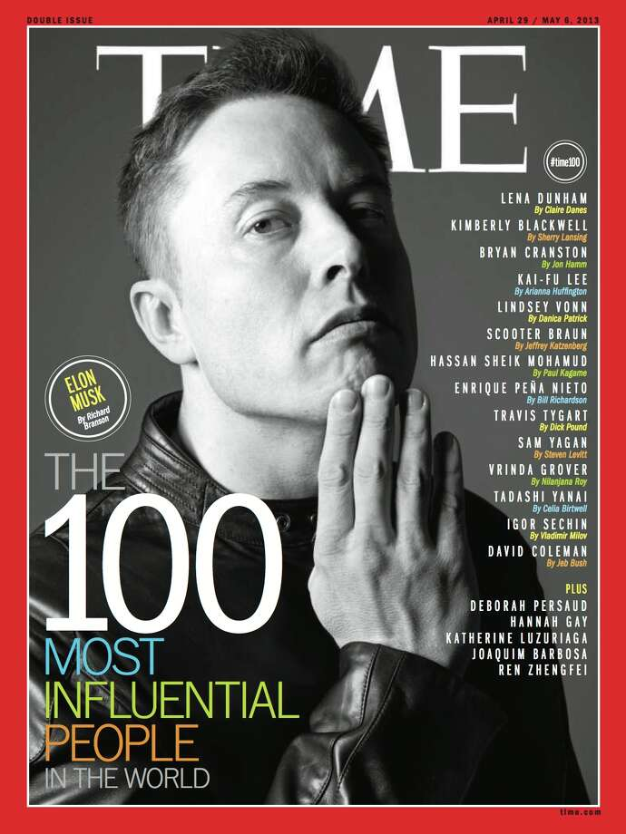 Elon Musk on the cover of Time's 100 Most Influential People In The World. Photo: Time Inc.