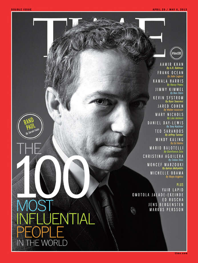 Sen. Rand Paul on the cover of Time's 100 Most Influential People In The World. Photo: Time Inc.