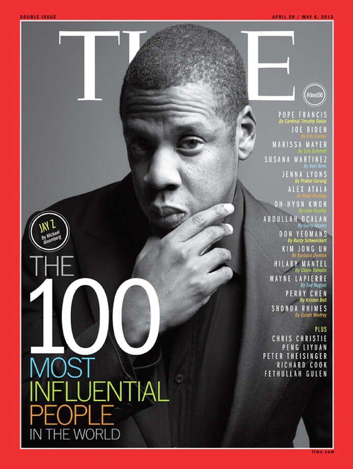 Jay-Z on the cover of Time's 100 Most Influential People In The World.See more who made the list in this slideshow. Photo: Time Inc.