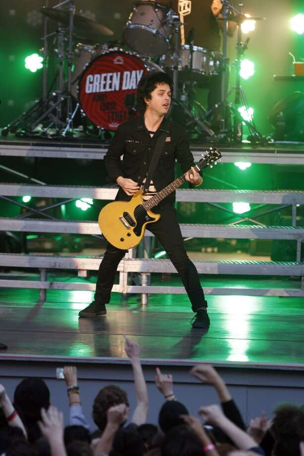 Green Day, led by Billie Joe Armstrong, played a homecoming show at Berkeley\'s Greek Theatre on Tuesday, April 16, 2013, in Berkeley, Calif.