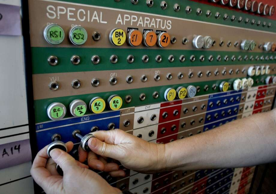 A pegging system used to keep track of San Francisco Fire personell and equipment from the late 1960\'s and early 1970\'s at the main dispatch center, inside the Emergency management building in San Francisco, Calif., on Thursday April 11, 2013.