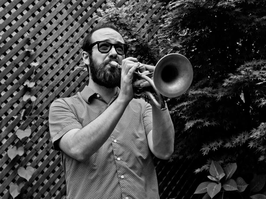 The Fairfield University Jazz Ensemble, with New York cornet player Kirk Knuffke, above, will perform on campus on Thursday, April 25. Photo: Contributed Photo