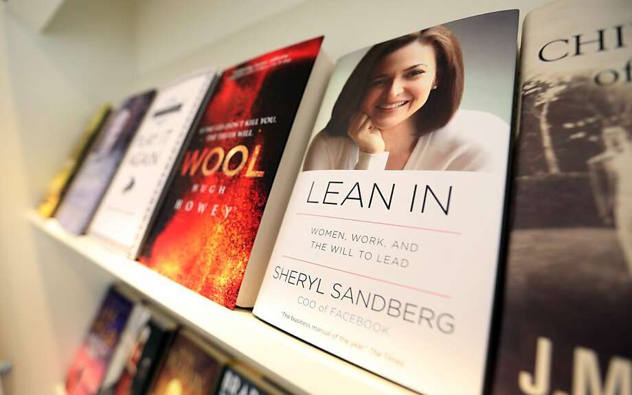 "A copy of ""Lean In"" by Sheryl Sandberg, published by WH Allen, is displayed beside other editions at the U.K. headquarters of Random House in London, U.K., on Friday, April 5, 2013. Bertelsmann SE's Random House won European Union approval to buy Pearson Plc's Penguin unit to create the largest book publisher in the U.K. and the U.S. Photographer: Chris Ratcliffe/Bloomberg Photo: Chris Ratcliffe, Bloomberg"