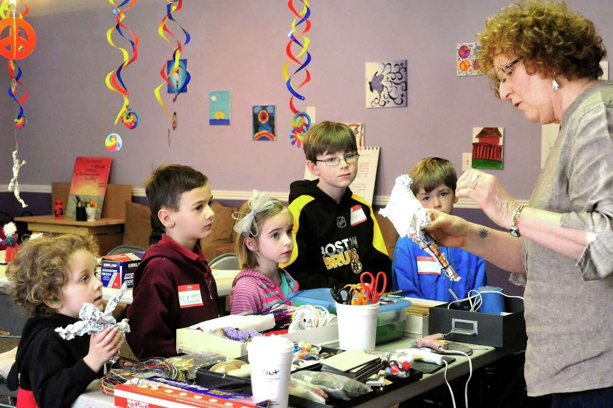 Barbara Scavotto-Earley leads students during a program titled