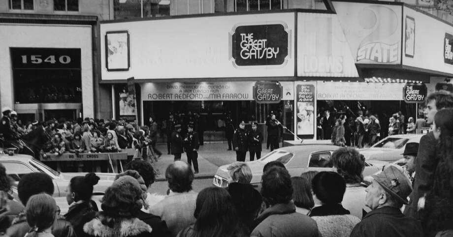 Crowds outside the premiere of Jack Clayton's film 'The Great Gatsby', New York City, 27th March 1974. Photo: FPG, Getty Images / 2011 Getty Images