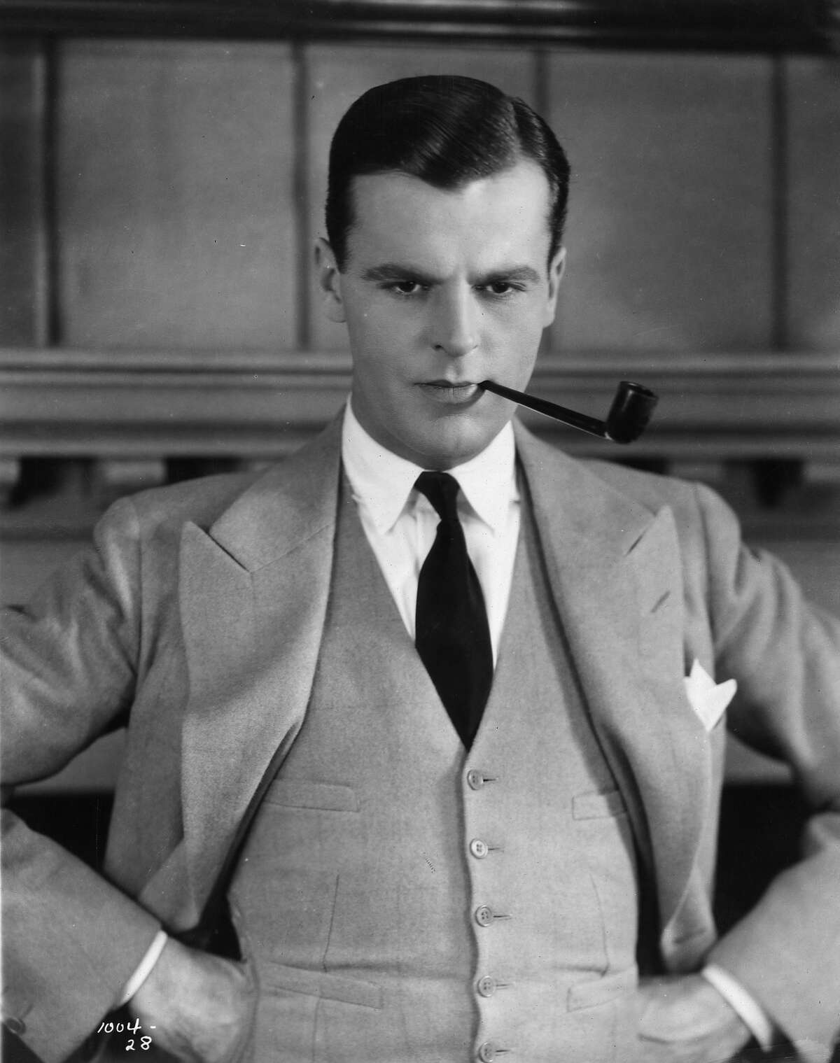 American actor Neil Hamilton in 1926 as he appears in the silent film version of 'The Great Gatsby', based on the novel by F Scott Fitzgerald.