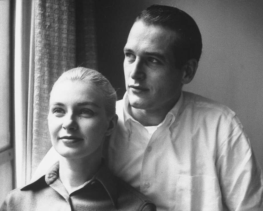Married actors Paul Newman and Joanne Woodward together next to window in their Greenwich Village house. Photo: Time Life Pictures, Getty Images / Time Life Pictures