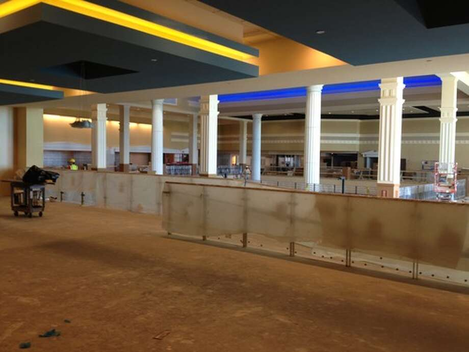 The sports lounge on the mezzanine level.