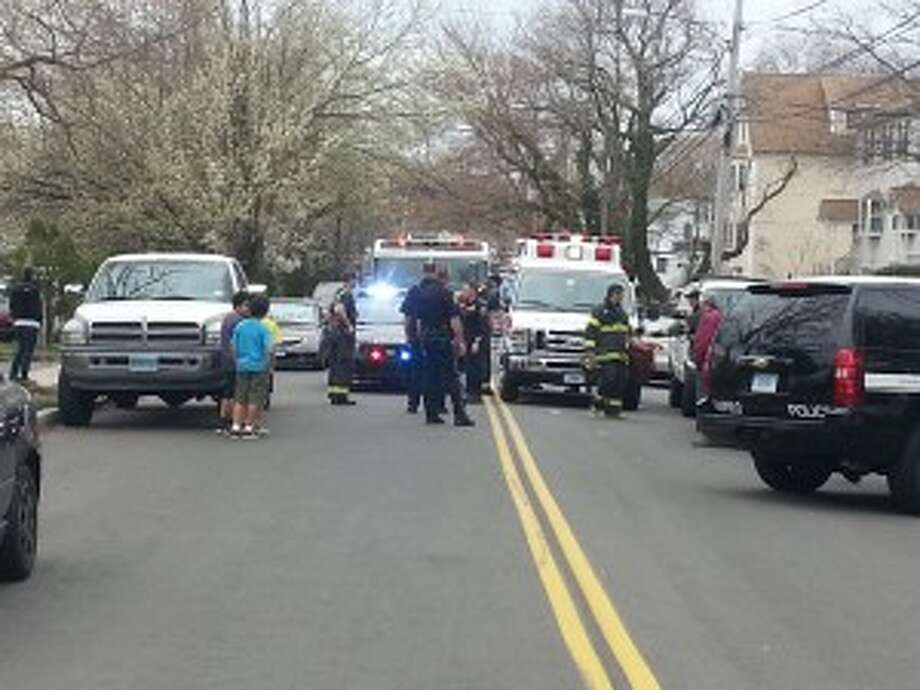 A child on a motorized scooter and an SUV collided on Castle Avenue on Thursday, though the child reportedly escaped serious injury in the crash. Photo: Steve Krauchick / Connecticut Post contributed