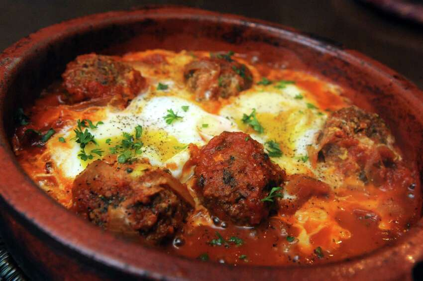 A lamb meatball dish at Tara Kitchen on Friday April 12, 2013 in Schenectady N.Y. (Michael P. Farrell/Times Union)