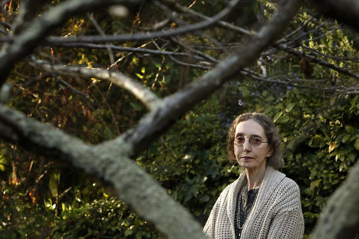 Joyce Carol Oates, author of over 50 novels, at her Berkeley, Calif., home on Tuesday, February 26 2013. Her latest novel, The Accursed, is a thriller set in 1905 New Jersey about a curse affecting the town's elite, including Samuel Clemens and Woodrow Wilson. This story has supernatural and criminal elements in the story line.