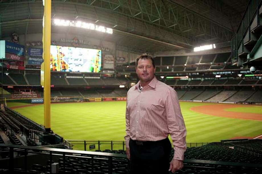 Roger Clemens at the I Am Waters event, at the Minute Maid Stadium, Houston, Texas on the 18th April 2013. Photo: Spike Johnson, For The Chronicle / Houston Chronicle