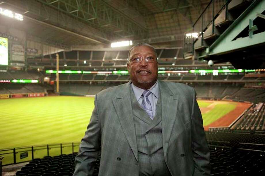 JR Richard at the I Am Waters event, at the Minute Maid Stadium, Houston, Texas on the 18th April 2013. Photo: Spike Johnson, For The Chronicle / Houston Chronicle