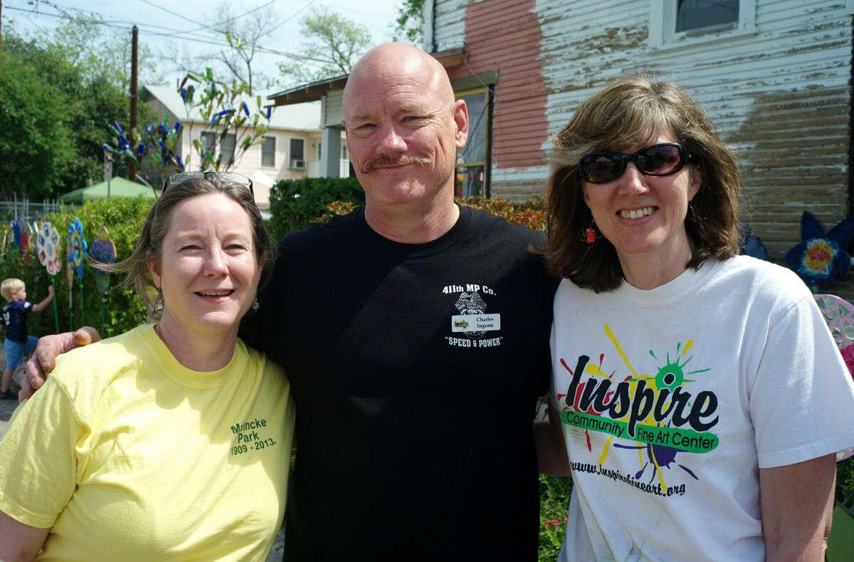 Julie Miller (from left), Charles Ingram and Susan Montagna