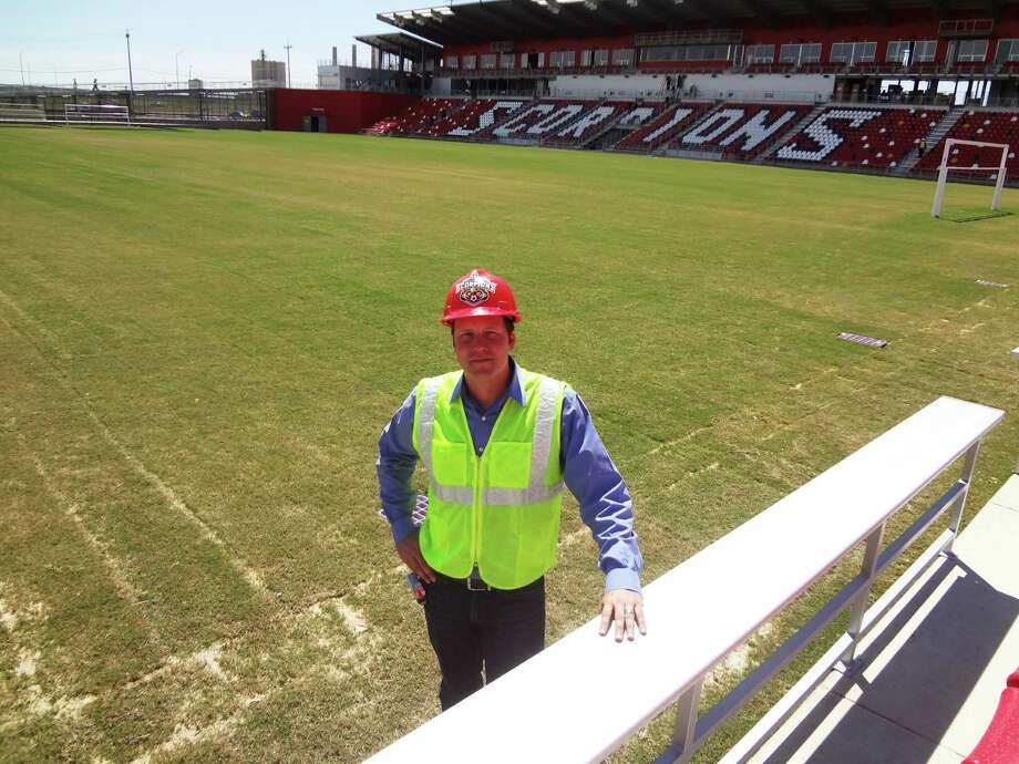 Thirty-two-year-old San Antonio native Andy Gill, a graduate of UTSA's architecture program, took the lead for Luna Architecture & Design in designing Toyota Field. Photo: Steve Bennett / San Antonio Express-News