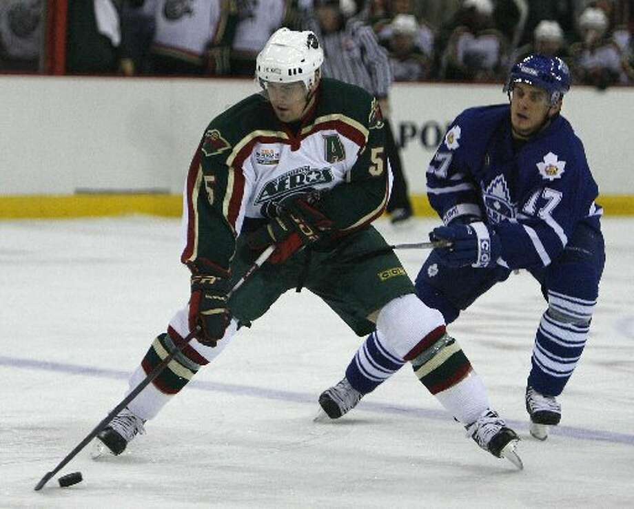 Erik Reitz One of the most memorable defenseman to ever lace them up for the Aeros, is the club's all-time leader in penalty minutes with 721 for his career. Photo: Bob Levey, Houston Chronicle