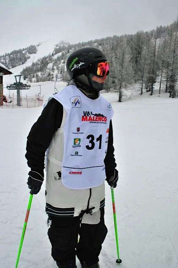 King School student Dan Rosenblum placed seventh in a field of 18 halfpipe finalists at the recent 2013 Freestyle Junior World Championships in Valmalenco, Italy. Photo: Contributed Photo