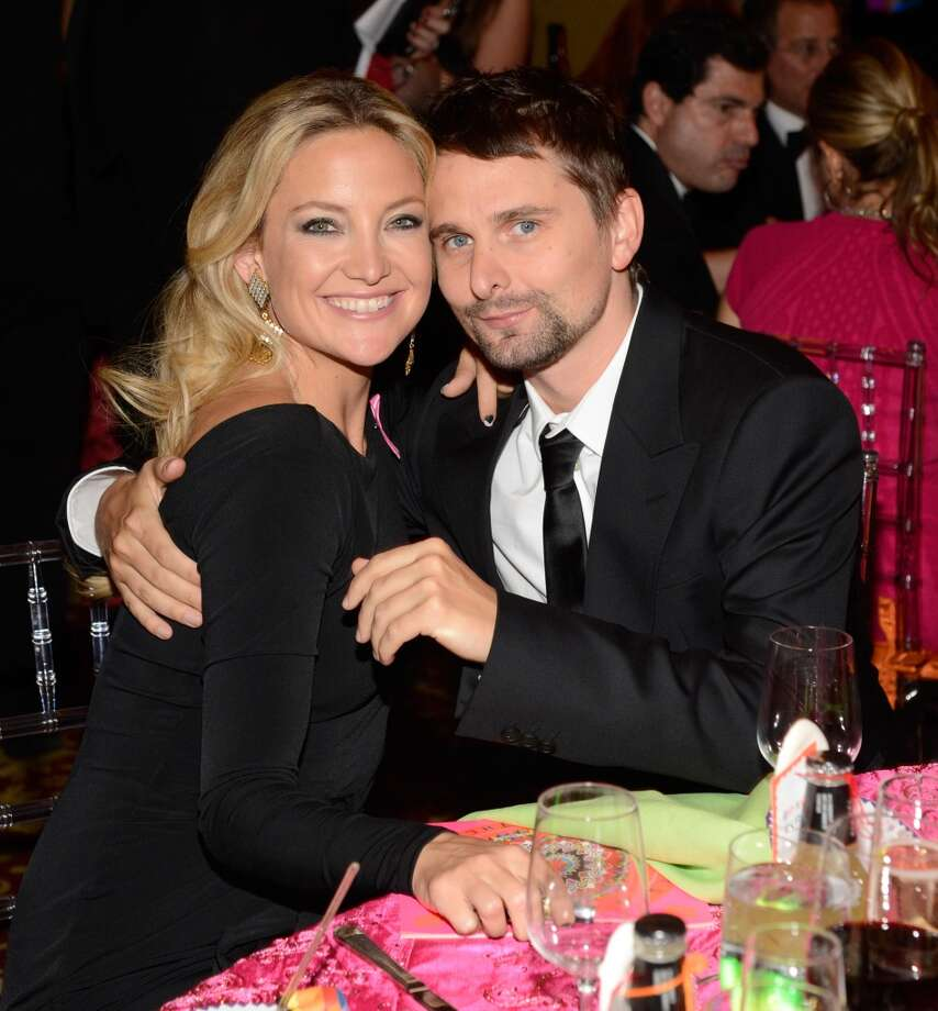 Kate Hudson and Matt Bellamy attend the Breast Cancer Foundation\'s Hot Pink Party at the Waldorf Astoria Hotel on April 17, 2013 in New York City.  (Photo by Kevin Mazur/WireImage)