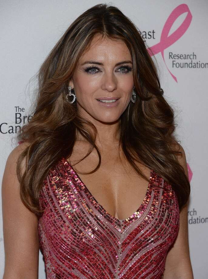 Elizabeth Hurley attends the 2013 Hot Pink Party at The Waldorf=Astoria on April 17, 2013 in New York City.  (Photo by Dimitrios Kambouris/Getty Images)