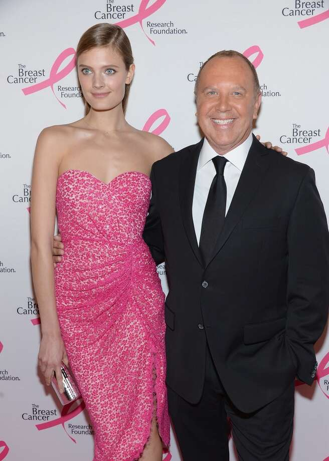Constance Jablonski and Michael Kors attends the 2013 Hot Pink Party at The Waldorf=Astoria on April 17, 2013 in New York City.  (Photo by Dimitrios Kambouris/Getty Images)